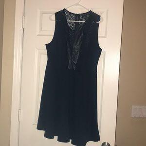 Lace Navy Blue Dress